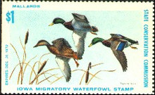 Iowa Duck Stamp 1972 Mallards