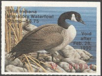 Indiana Duck Stamp 1989 Canada Goose