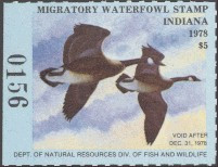Indiana Duck Stamp 1978 Canada Geese