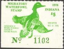 Indiana Duck Stamp 1976 Green - Winged Teal
