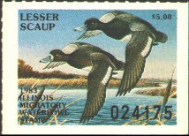 Illinois Duck Stamp 1983 Lesser Scaup