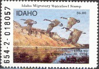 Idaho Duck Stamp 1992 Canada Geese