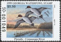 Georgia Duck Stamp 1999 Pintails