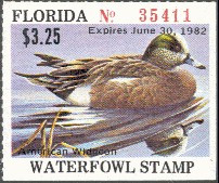 Florida Duck Stamp 1981 American Wigeon