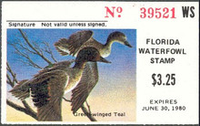 Florida Duck Stamp 1979 Green - Winged Teal