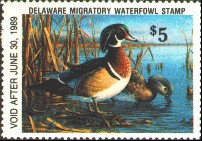 Delaware Duck Stamp 1988 Wood Ducks