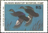 Delaware Duck Stamp 1980 Black Ducks