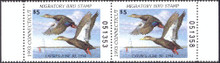 Connecticut Duck Stamp 1993 Black Ducks Hunter pair