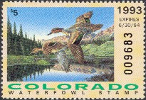 Colorado Duck Stamp 1993 Green - Winged Teal