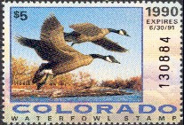 Colorado Duck Stamp 1990 Canada Geese