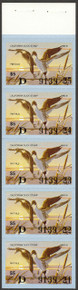 California Duck Stamp 1980 Pintails Full Pane of five stamps