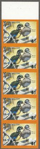California Duck Stamp 1979 Wood Ducks Imperforate pane of five
