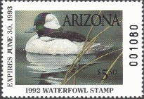 Arizona Duck Stamp 1992 Buffleheads