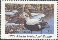 Alaska Duck Stamp 1987 Spectacled Eider