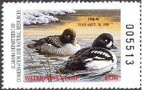 Alabama Duck Stamp 1998 Barrow's Goldeneye
