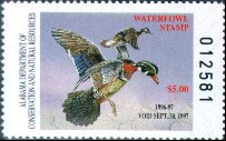 Alabama Duck Stamp 1996 Wood Ducks