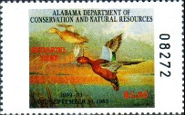 Alabama Duck Stamp 1992 Cinnamon Teal