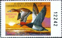 Alabama Duck Stamp 1991 Redheads