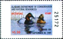 Alabama Duck Stamp 1988 Canvasbacks