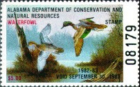 Alabama Duck Stamp 1982 Green - Winged Teal