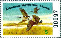 Alabama Duck Stamp 1981 Canada Geese