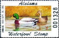 Alabama Duck Stamp 1980 Mallards