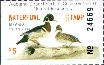 Alabama Duck Stamp 1979 Wood Ducks