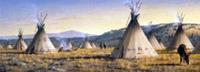 Lakota Village - Canvas by Jim Hautman