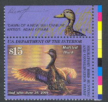 Federal Duck Stamp RW67 ( 2000 Mottled Duck )