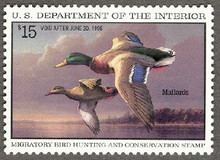 Federal Duck Stamp RW62 ( 1995 Mallards )
