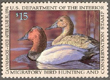 Federal Duck Stamp RW60 ( 1993 Canvasbacks )