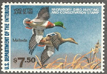 Federal Duck Stamp RW47 ( 1980 Mallards )