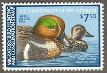 Federal Duck Stamp RW46 ( 1979 Green - Winged Teal )