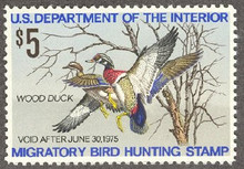 Federal Duck Stamp RW41 ( 1974 Wood Ducks )