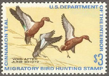 Federal Duck Stamp RW38 ( 1971 Cinnamon Teal )