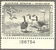 Federal Duck Stamp RW25 ( 1958 Canada Geese )
