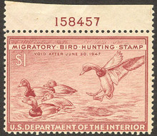Federal Duck Stamp RW13 ( 1946 Redheads )