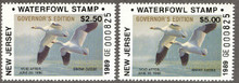 New Jersey Duck Stamp 1989 Governor Edition Resident & Non Resident Set