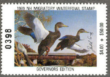New Hampshire Duck Stamp 1989 Governor Edition