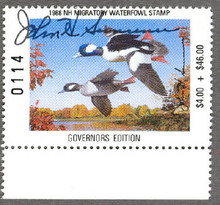 New Hampshire Duck Stamp 1988 Governor Edition Hand Signed