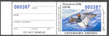 Montana Duck Stamp 1990 Governor Edition