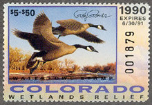 Colorado Duck Stamp 1990 Governor Edition