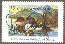 Alaska Duck Stamp 1989 Governor Edition Hand Signed