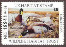 UK Wildlife Habitat Trust Duck Stamp 1994 Mallards