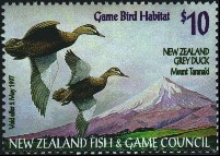 New Zealand Duck Stamp 1996 New Zealand Gray Ducks