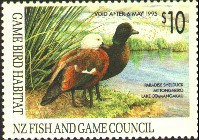 New Zealand Duck Stamp 1994 Paradise ShelDucks