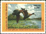 Costa Rica Duck Stamp 1992 White Faced Whistling Ducks