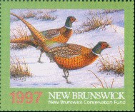 New Brunswick Conservation Fund Duck Stamp 1997 Pheasant Booklet