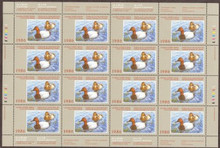 Canada Duck Stamp 1986 Canvasbacks Full sheet of sixteen