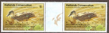 Australia Duck Stamp 1991 Pacific Black Duck Western Australia Overprint Gutter Pair